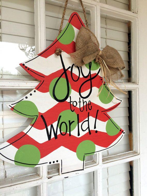 25+ best ideas about Wooden door hangers on Pinterest
