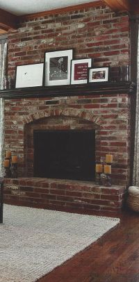 Best 20+ Red brick fireplaces ideas on Pinterest | Brick ...