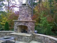25+ best ideas about Outdoor wood burning fireplace on ...