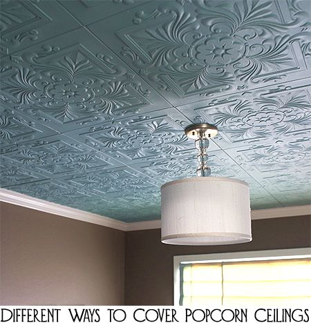 25+ Best Ideas about Covering Popcorn Ceiling on Pinterest
