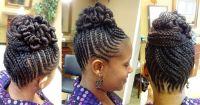 Braided Bun Updo | Natural Hair & Braid Styles | Pinterest ...