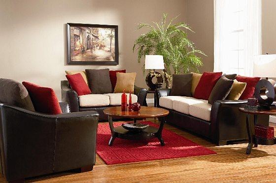 Red And Chocolate Brown Living Room u2013 Modern House - red and brown living room