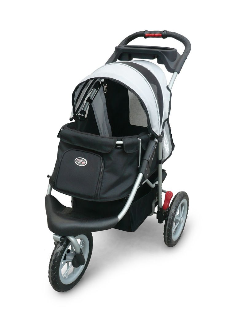 Baby Pram Or Pushchair Pet Stroller Ips 070 Black Silver Free Rain And Wind