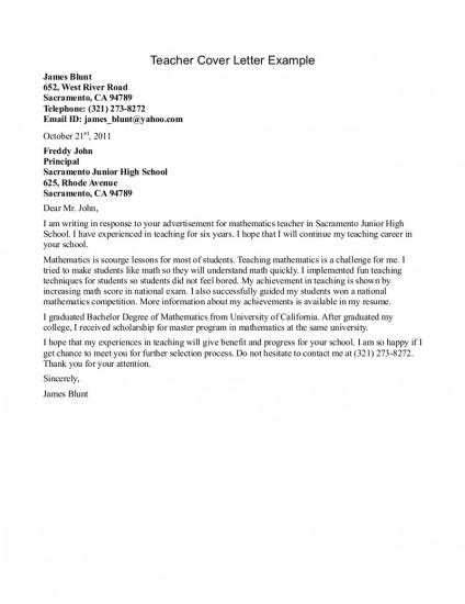 Mathematics Teacher Cover Letter Sample Resume Builder 13 Best Images About Teacher Cover Letters On Pinterest