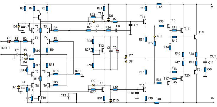 mono amplifier circuit diagram schematics