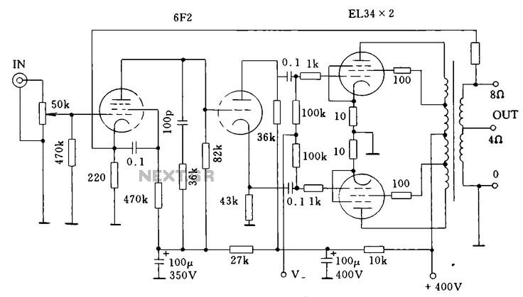 the many ideas of 100 watt amplifier circuit