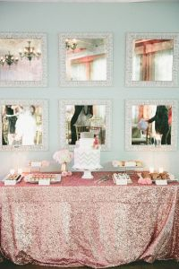 Pink Sequin Tablecloth, Rose Pink, Kate Spade, Sweet 16 ...