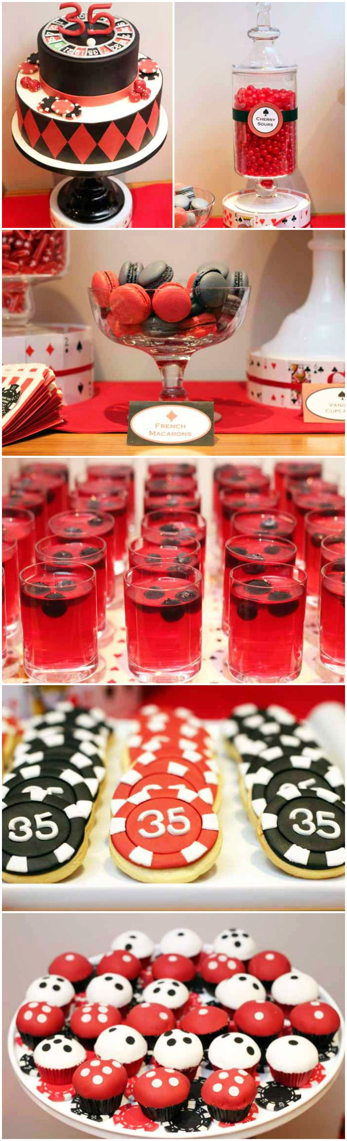 Mottoparty James Bond Poker Party Guest Dessert Feature | Poker Chips, Free Cash