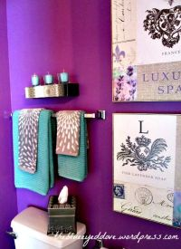 Purple Bathroom - decorating with purple, turquoise and ...
