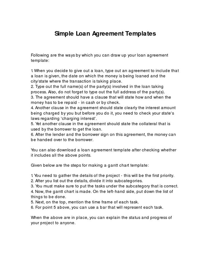 simple loan agreement template - 28 images - sle business loan - loan document