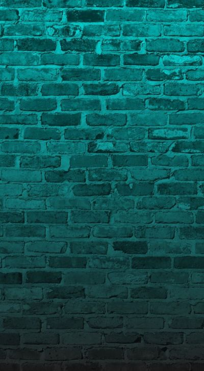 Aqua turquoise Teal green brick wall iphone wallpaper background phone lock screen | Sfondi ...