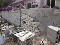 17 Best ideas about Concrete Block Retaining Wall on