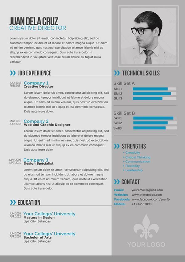 best cv template analust