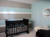 My son's first nursery...Hubby and I painted 3 toned ...