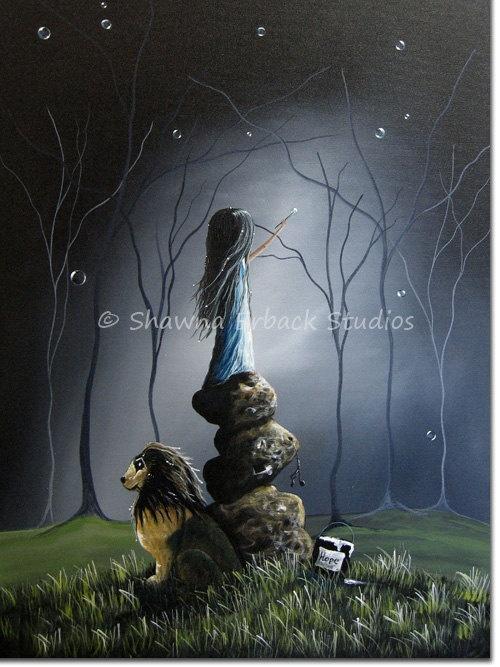 Broken Heart Sad Girl Wallpaper Surreal Art Print Girl Lion Fantasy Surreal Gothic Di