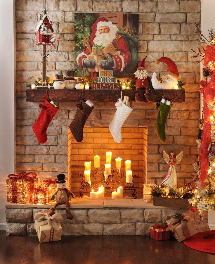 Karacsonyi Kandallo Dekoracio Christmas Fireplace