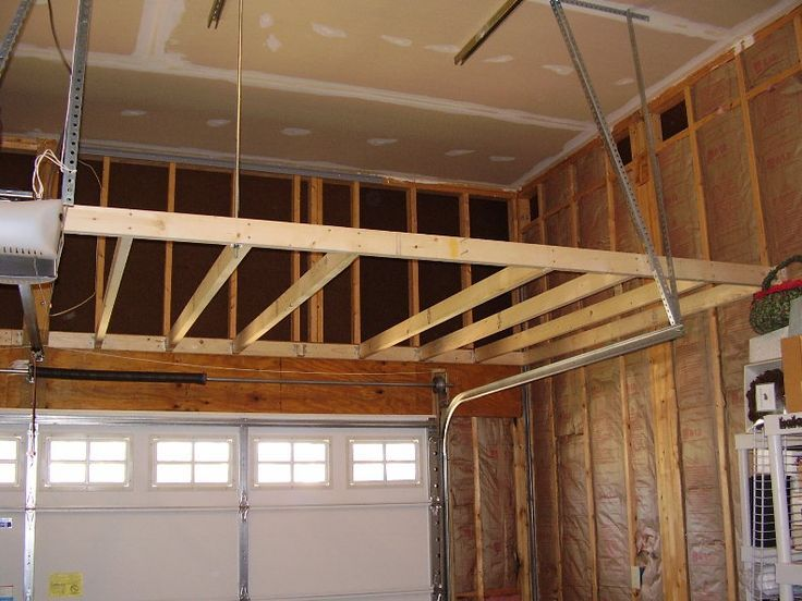 Home Building Forum Garage Storage Loft - How To Support? - Building