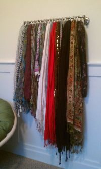 25+ best ideas about Scarf Rack on Pinterest | Hang ...