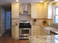 """36"""" upper cabinets with 6"""" stacked molding, 8-foot ..."""