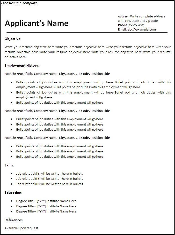 Easy Resume Template Free Beautiful Ideas Basic Resume Templates - professional resume template free