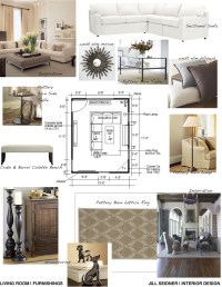 Concept board for living room. | Jill Seidner Interior ...
