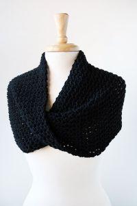 Merino Wool Knit Scarf or Shoulder Wrap - Infinity Scarf ...