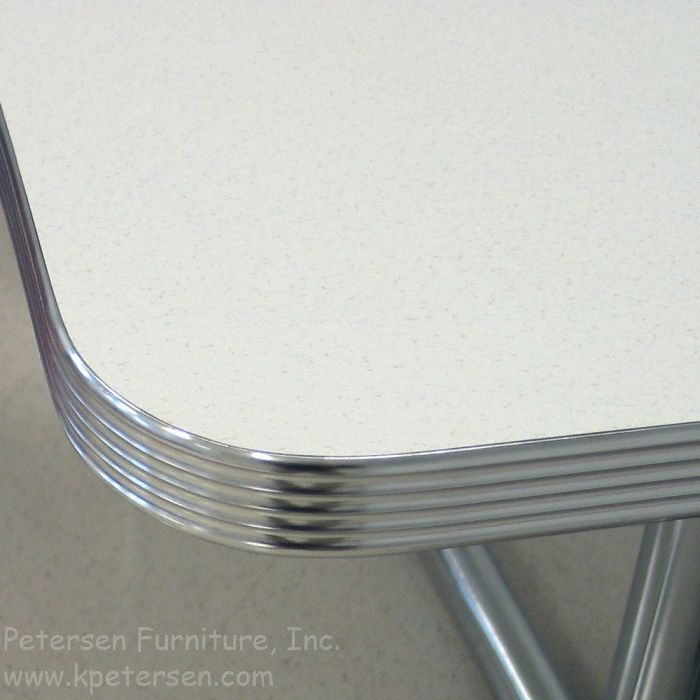 Wren Kitchen Cabinets Diner Table Polished, Grooved Aluminum Edge | Kitchen
