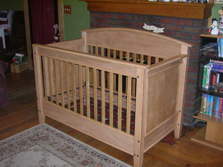 Woodworking Crib Plans Oak Crib Baby Pinterest