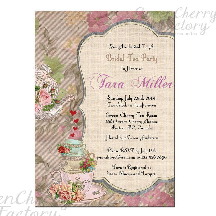 Printable High Tea Party Invitations Craft Ideas