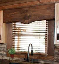 rustic window valence made from wood. | Trailer/RV ideas ...