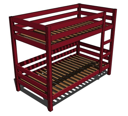 Simple Sturdy Bunk Bed Plans Woodworking Projects Plans