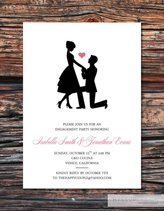 17 Best Ideas About Engagement Party Invitations On Pinterest