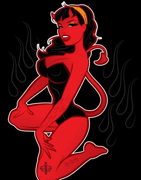 Coop Devil Girl Wallpaper Dead Sexy Devil Girl Pin Up Tattoo Ideas Pinterest