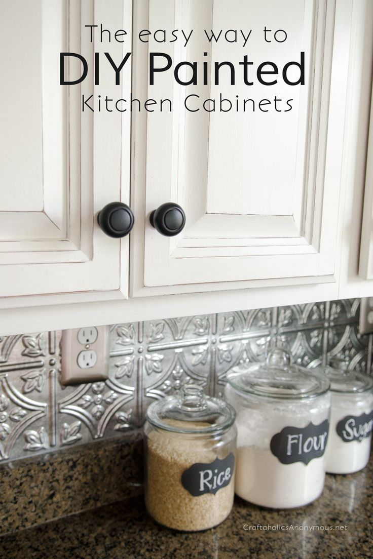 painted cupboards kitchen cabinet painting How to Paint Kitchen Cabinets with Chalk Paint