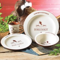 Cowboy Kitchen Dinnerware Set - 16 pcs - CLEARANCE | 5th ...