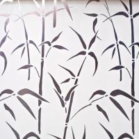 Bamboo white frosted self adhesive window contact paper ...