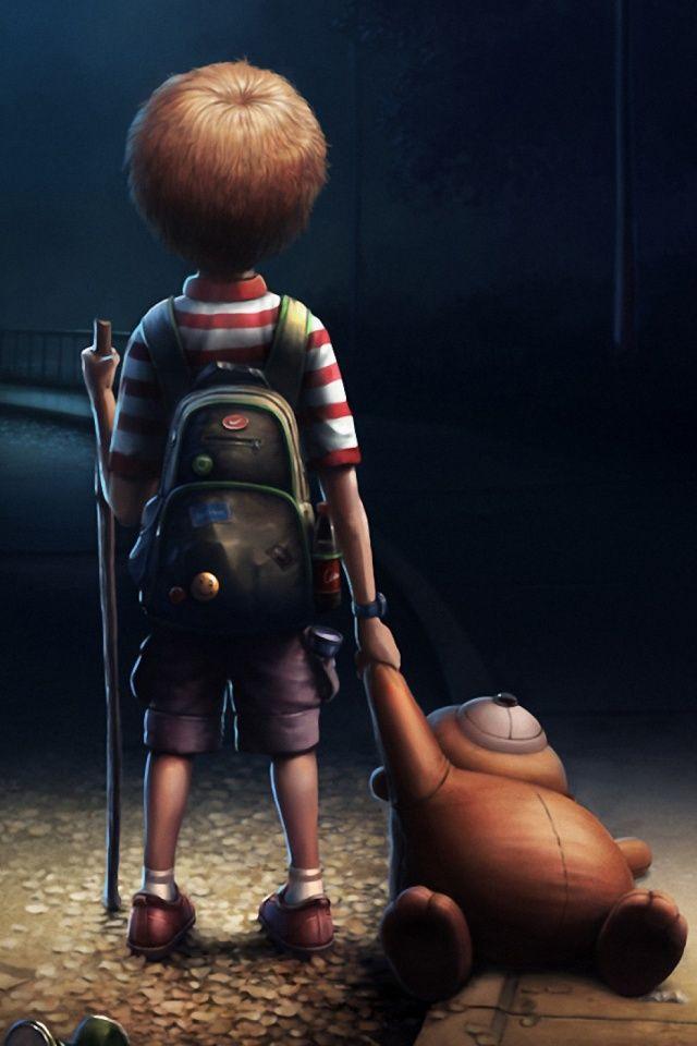 Cute Little Boy And Girl Wallpapers Descargar Lonely Boy 640 X 960 Wallpapers Lonely Boy