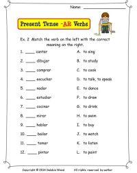 Spanish AR Verbs Present Tense | Present tense, Spanish ...