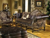 cozy family room # fabric leather sofa # hacienda sofa ...
