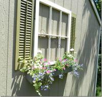 Faux Window - window box with shutters... Fun way to add ...