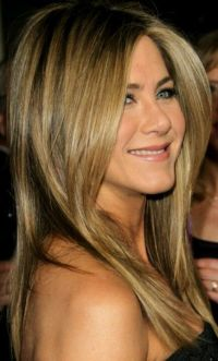 Jennifer Aniston hair color. Highlights. http