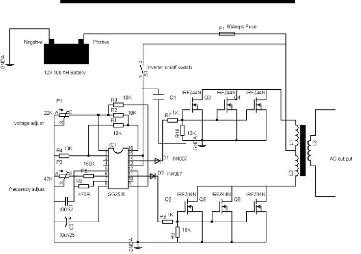 circuit diagram of 600va inverter