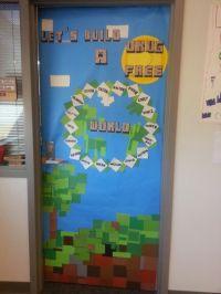 Minecraft Red Ribbon Door | Minecraft Classroom Theme ...