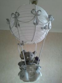 Cute little Elephant in Hot Air Balloon light lamp shade ...