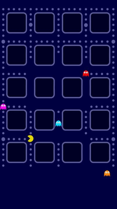 PAC man iPhone 5 app skins wallpaper | Cool Wallpapers and Backgrounds | Pinterest | iPhone ...