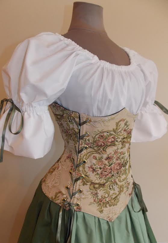 Countess Rose Under Bust Corset Set Renaissance Clothing
