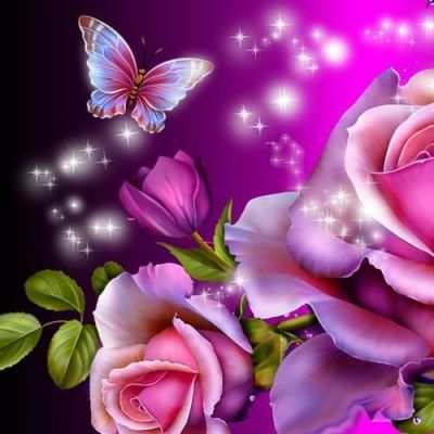 Butterfly magic 3D live wallpaper for Android. Butterfly magic 3D ... | flowers and butterflies ...