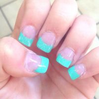 17 Best ideas about Teal Acrylic Nails on Pinterest ...