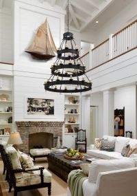 Two story living room, love the light! The fireplace! Just ...
