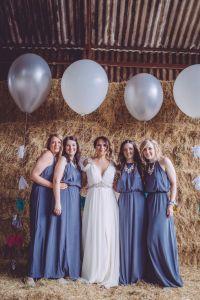 Owen House Wedding Barn Jenny Packham H&M Bridesmaids ...